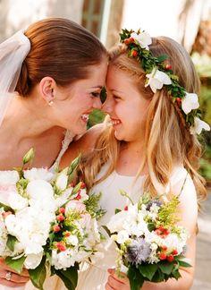 Flower girl's flower crown Toni Kami ❀Flower ❀ Girls❀ Corona halo wedding hair flowers