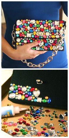 Zobacz zdjęcie Torebka z kolorowymi kryształkami w pełnej rozdzielczości Clothing, Shoes & Jewelry - Women - handmade handbags & accessories - http://amzn.to/2kdX3h7