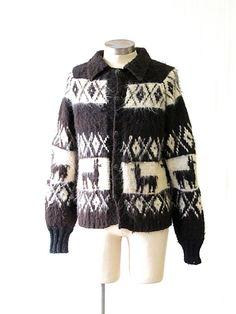 Vintage 1970's Alpaca Wool Knit Sweater Fotrama by lovestreetsf