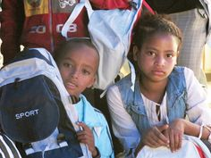 A new backpack! | Present for an ethiopian boy