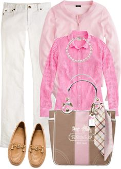 """""""Pink gingham"""" by luv2shopmom on Polyvore"""