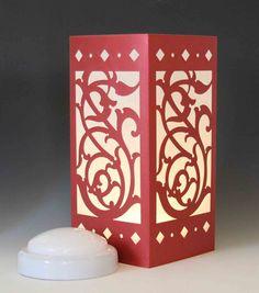 Persian Vine Laser cut Luminary Table Lamp Centerpiece - by StarrDesign on Etsy Diy Lanterns, Centerpieces, Night Light, Light, Table Lamp Wood, Thermocol Craft, Paper Lanterns Diy, Art Lamp, Etsy