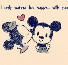 Disney Land, Mickey and Minnie