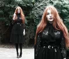 More looks by Olivia Emily: http://lb.nu/oliviaharrison #edgy #gothic #romantic