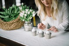 Simple & Elegant DIY Easter Egg Decor Pottery Barn Easter, Stone Spray Paint, Plastic Easter Eggs, Easter Season, Arts And Crafts Projects, Decor Crafts, Diy Projects, Egg Decorating, Easy Diy Crafts