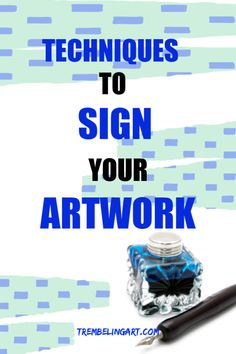 One of the most difficult tasks for a beginner artist is deciding how to sign your artwork. Acrylic Painting For Beginners, Watercolor Tips, Simple Acrylic Paintings, Watercolor Paintings Abstract, Acrylic Painting Techniques, Art Techniques, Diy Painting, Beginner Painting, Pour Painting