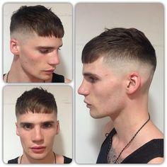 Fresh little high skin fade for @tobyleonard1 #barber #barbering #barberlife #male #model #skinfade #fringe #fresh #tight #hair #hairdresser #hairdressing #toniandguy #labelmuk #clipper