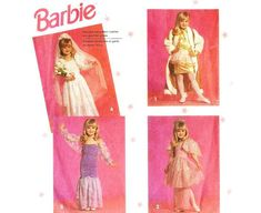 Dress Up as Barbie Clothes Pattern for Girls Simplicity 7430 for 3 to 6 years old 90s Dress Up, Dress Up Outfits, Barbie Dress, Barbie Clothes Patterns, Clothing Patterns, Costume Patterns, Dress Patterns, 90s Pattern, Dance Dresses