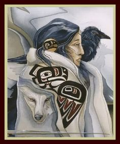 Native American Raven Art