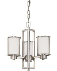 Nuvo-Odeon Collection Medium Chandelier in Brushed Nickel (*Low Country Cottage*)
