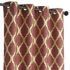 """Moorish Tile Curtain - Wine 96"""""""