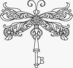 dragonfly-steampunk-tattoo-stencil-4.jpg 300×279 pixels