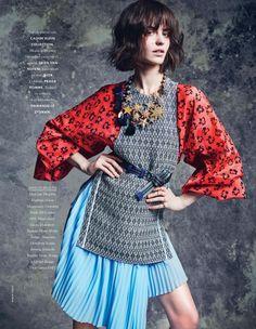 "Marta Dyks in ""Bonne Impression"" by Marcin Tyszka for Elle France April 2014"