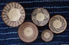 Group of 7 Binga Wall Baskets - African Wall Baskets, Wall Platter Group Baskets On Wall, Storage Baskets, Wall Basket, Basket Weaving, Hand Weaving, Boho Decor, Decorative Plates, Wall Decor, African