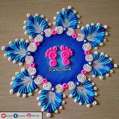Easy Rangoli Designs Videos, Easy Rangoli Designs Diwali, Rangoli Designs Latest, Simple Rangoli Designs Images, Rangoli Designs Flower, Free Hand Rangoli Design, Small Rangoli Design, Rangoli Border Designs, Rangoli Ideas