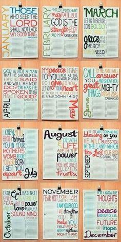 Bible verses calendar verses by Mai Uy