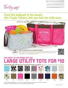 June 2013 Special  shop with me!  www.mythirtyone.com/lhartman