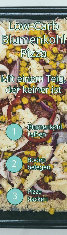 Low-Carb Blumenkohl Pizza Rezept Food, Cauliflower Pizza, Pizza Bake, Food Food, Simple, Recipes, Eten, Meals, Diet