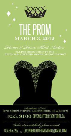 adult prom invitation fundraiser - Google Search