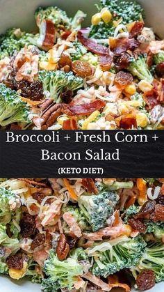 Side Dish Recipes, Veggie Recipes, Low Carb Recipes, Salad Recipes, Diet Recipes, Cooking Recipes, Healthy Recipes, Broccoli Recipes, Salads