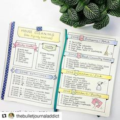 The Saturday (Spic n Span) Cleaning Spread courtesy of star bujo-er @thebulletjournaladdict (with @repostapp) ・・・ Finally migrated my #flylady routines over to my new journal. This is the first half, second set to follow soon! . . .