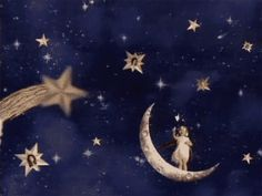 """""""The stuff that dreams are made of"""" Very early film, by Melies, France (GIFs) Sun Moon Stars, Sun And Stars, Constellations, Pop Art, Gif Animé, Sky Gif, Paper Moon, Gifs, Art Graphique"""