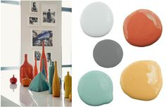 Color Inspiration: Retro Colored Glass   The Writing on the Wall