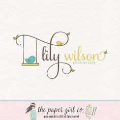 bird logo design photography logo premade logo children's