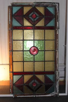 Kijiji: RARE Antique NL Outport Stain Glass Window Pane Window Panes, Stained Glass Windows, Rare Antique, Art Deco, Mirror, Antiques, Home Decor, Style, Antiquities