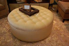 Round Ottoman by Decorum Home & Design, 512.263.3434