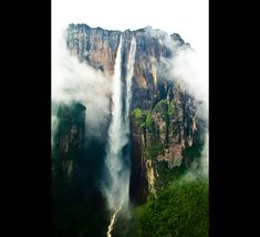 One of my favorite places... Angel Falls, Venezuela. World's tallest waterfall (and site of one of my most favorite BASE jumps)!