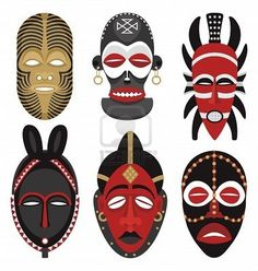 mascaras africanas rituales - Buscar con Google