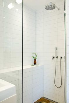White Bathroom Wall Tile long rectangle tiles stacked | bathroom wall pattern tile ideas