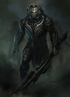 """Marvel Studios' conceptual illustrator Andy Park (""""The Avengers""""), has updated his website with a large batch of concept art that he created for Alan Taylor's Thor: The Dark World. Fantasy Demon, Fantasy Warrior, Dark Fantasy Art, Fantasy Inspiration, Character Inspiration, Armor Concept, Concept Art, Fantasy Character Design, Character Art"""