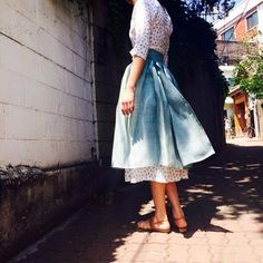 tchaikim 생활한복 처릭원피스 Unique Fashion, Asian Fashion, Modest Fashion, Fashion Outfits, Women's Fashion, Korean Traditional Clothes, Traditional Fashion, Traditional Dresses, Dress Outfits