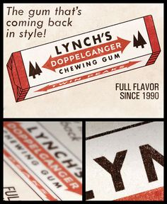 """That gum you like is coming back in style."" - David Lynch - Twin Peaks Poster Art Print #damngoodcoffee"
