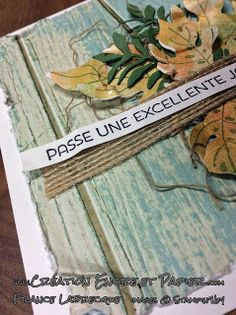 Stampin'Up! Carte Amitié Friendship Card Automne / Fall Kit Botanical Blooms www.creationencreetpapier.com