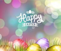 Pretty Happy Easter Eggs