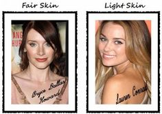 Celebrity Makeup: Bryce Dallas Howard and Lauren Conrad. Highlighter and Strobing techniques for fair skin.