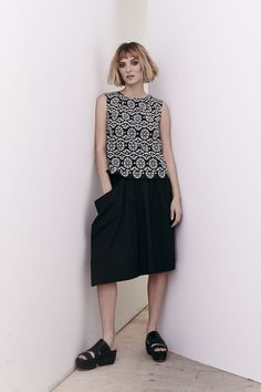 Embroidered Caldera Top and Talco Cotton Rumpled Skirt  www.comrags.com