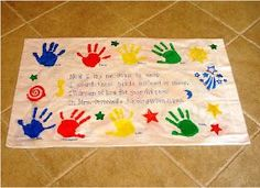 End of the year pillowcases- poem can be printed on sheets of transfer paper and ironed onto the pillowcases. Now I lay me down to sleep, I count these hands instead of sheep, I'll dream of every lad and lass From Mrs. _______'s kindergarten class.