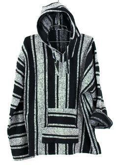 Baja Surf Poncho Vintage 90s Mexican Hoodie Sweater Unisex Drug Rug Sweatshirt