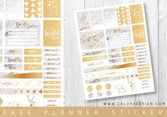 FREE Marble Printable Planner Stickers