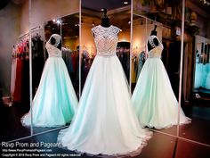 Aqua Nude Ball Gown-High Neckline-Aqua Pearls-Open Back-116NC073320 at Rsvp Prom and Pageant, your source for the HOTTEST Prom and Pageant Dresses!