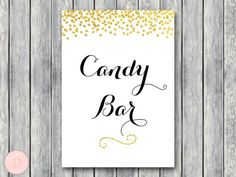 WD47c-Gold Candy Bar Sign, Instant Download
