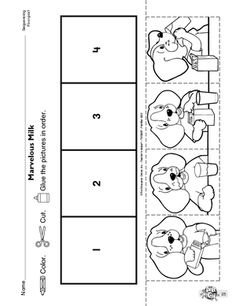 Perfect for Children's Dental Health Month or a tooth unit study! Large size of dental health worksheets for preschool teeth kindergarten healthy food free . Preschool Projects, Preschool Printables, Preschool Kindergarten, Kindergarten Worksheets, Preschool Art, Preschool Activities, Sequencing Worksheets, Language Arts Worksheets, Dental Health Month