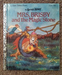 The Secret Of Nimh Mrs Brisby And Magic Stone Little Golden Book 1982