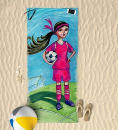 Soccer Girl Beach Towel