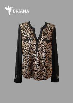 luce #hermosa con esta #elegante #blusa #negra con #dorado