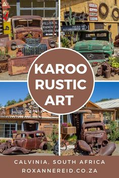 Stop at Calvinia's Rustic Art tucked away from the main drag and unearth a weird world of junk and art in the Karoo. All About Africa, Wildlife Safari, Slow Travel, Rustic Art, Flat Roof, Weird World, Africa Travel, Virtual Tour, Travel Around